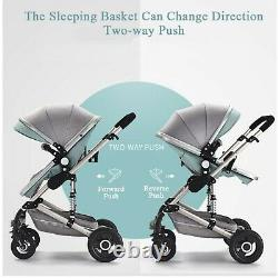 3 IN 1 Baby Stroller Pram Car Seat Pushchair Carry Cot Travel System and Basket