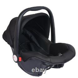 3 in1 Newborn Baby Pram Pushchair Car Seat Stroller Carrycot Buggy withRain Cover