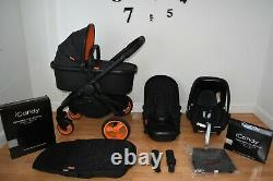 3in1 iCandy Peach Desinger Collection in Black inc Maxi Cosi -I Size Car Seat