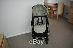 3in1 iCandy Strawberry2 in Dune inc Maxi Cosi Pebble Car Seat with Silver Frame