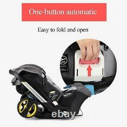 4 in 1 Baby Pram Pushchair Stroller From Birth With Car Seat Travel System Buggy