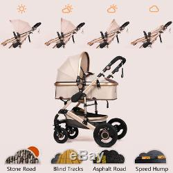8IN1 Baby Pram Stroller Pushchair Car Seat Carrycot Travel System Buggy+FREEBIES