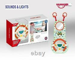 Baby Activity Hanging Musical Toy With Light Steering Wheel for Car Seat Cot Bed
