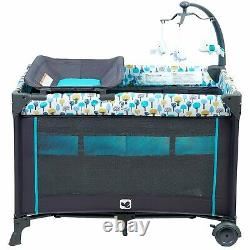 Baby Boy Stroller Travel System with Car Seat High Chair Playard Crib Combo