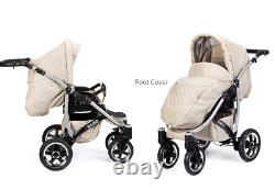 Baby Buggy Pram Set Pushchair Car Seat Carrycot 3 in 1 Travel System From Birth