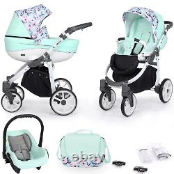 Baby Buggy Pram with Car Seat Travel System From Birth Set 3in1 Buggy Carrycot