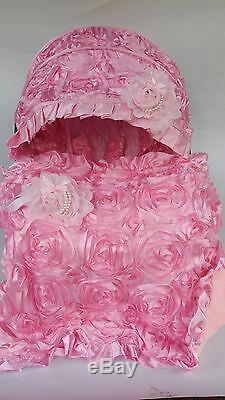 Baby Car Seat cover Canopy Cover Blanket fit Most infant car seat 3D baby-pink