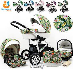 7a2d21b44 Baby Pram Buggy Pushchair 3 In 1 Car Seat Carrycot Combi Travel System  Newborn