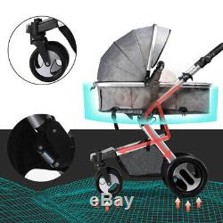 Baby Pram Pushchair 3in 1 Buggy From Birth Car Seat Carrycot Travel System Buggy