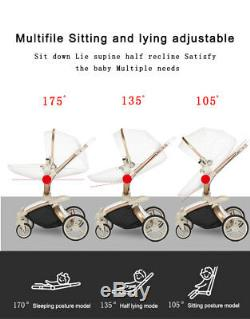 Baby Stroller 3 in 1 travel system Bassinet Combo carriage Pushchair&car seat