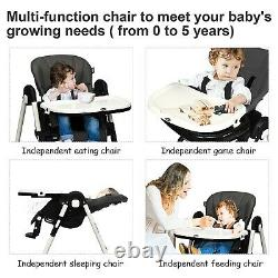 Baby Stroller Travel System with Car Seat Playard High Chair Swing Combo Black