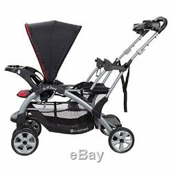 Baby Trend Double Stroller with Two Infant Car Seat Toddler Kids Set Red/Black
