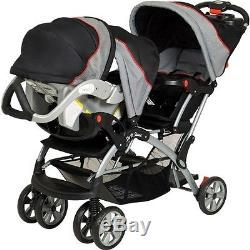 Baby Trend Sit N Stand Plus Double Baby Infant Stroller, Car Seat NOT INCLUDED