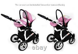 Baby pram, Buggy 3in1, Travel System, Pushchair, Car Seat From Birth & Toddlers
