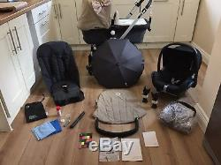 Beautiful Bugaboo Cameleon Travel System Pram Grey Sand + Maxi Cosi Car Seat