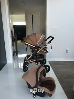Brand New Light Stroller With Bassinet And Car Seat. For Newborn And Toddlers