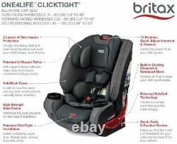 Britax One4Life ClickTight All-in-One Convertible Car Seat Eclipse Black NEW
