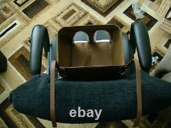 Brown vintage style child car seat baby seat safety seat antique car seat safety