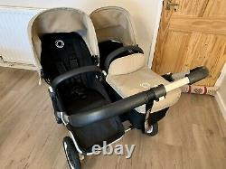 Bugaboo Donkey Duo / Twin Sand Canopy, including Maxi Cosi Car Seat Adapter