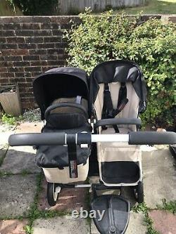 Bugaboo Donkey twin With Buggy Board & Car Seat Adapter, Brand New Seat