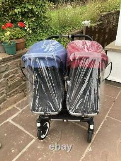 Bugaboo Donkey2 Duo Double Buggy With Maxicosi Car Seat And Adapters