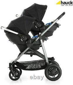 Buggy Pushchair 2 Seat Stroller Double Stroller Twin Pram With Car Seat Adaptor