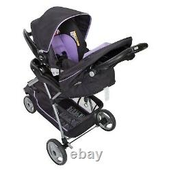 Car Seat and Stroller Combo Set Baby Infant Kid Newborn Travel System Purple New