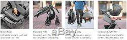 Chicco Mini Bravo Plus Travel System Stroller with KeyFit 30 Zip Car Seat Midnight