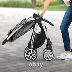 Chicco Mini Bravo Sport Travel System Stroller with KeyFit Infant Car Seat Carbon