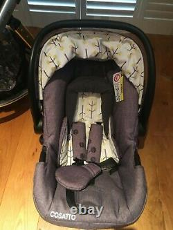 Cosatto Giggle 2 Travel System, Carrycot Pram and Hold Car seat in Pom Pom Tree