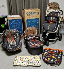 Cosatto Giggle 2 Travel System Fable Pram Pushchair Stroller Car Seat Rain Cover