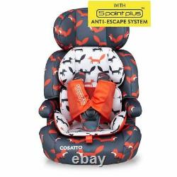 Cosatto Zoomi Booster Car Seat Group 1/2/3 Charcoal Mister Fox 9 months 12 yrs