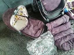 Cossatto Wow Pushchair Car seat Purple Full Travel System With Isofix