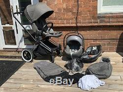 Cybex Priam, Lux Seat, Cloud Q Car Seat, Isofix Base, 2 x Foot Muffs, 3 x Covers