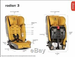 Diono Radian 3 RXT All-in-One Convertible + Booster Child Safety Car Seat Black