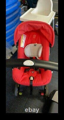 Doona Infant Car Seat Stroller Flame Red used few times