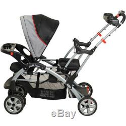 Double Travel System Stroller Baby Infant Twin Car Seat Carrier Carriage Buggy