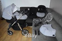 Full Travel System 3in1 Silver Cross Pioneer in Silver inc Car Seat