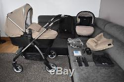 Full Travel System 3in1 Silver Cross Wayfarer in Sand inc Simplicity Car Seat