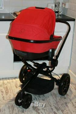 Gorgeous Quinny Moodd Red Pram Travel System 3 In 1 Maxi Cosi Car Seat Ex Con