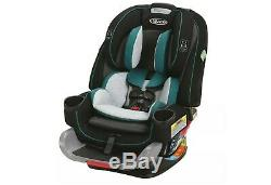 Graco 4Ever Extend2Fit 4-in-1 Car Seat Cillian Black Gray Teal NEW