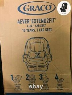 Graco 4Ever Extend2Fit 4 in 1 Car Seat Ride Rear Facing Longer with Extend2Fit