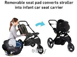 Graco Baby FitFold Jogger Travel System Stroller w SnugLock 35 LX Car Seat Jude