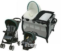 Graco Baby Stroller With Car Seat Travel System Set Nursery Playard Combo