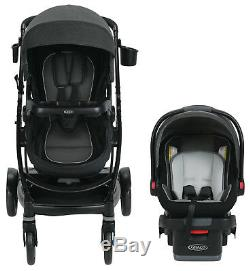 Graco Baby UNO2DUO Travel System Stroller with SnugLock 35 Infant Car Seat Ace NEW