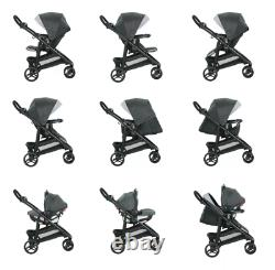 Graco Modes 3 Lite DLX Travel System Stroller & Car Seat, Cooper Grey Unisex