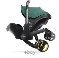 Green Doona Car Seat Stroller With Base-Used, Barely Used In Great Condition