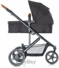 Hauck Pacific 3 Travel System 2 Way Facing Pushchair Car Seat Melange Charcoal