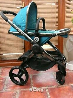 ICANDY PEACH 3 PEACOCK travel system & extras free uk post carseat not included
