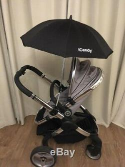 ICandy Peach 2 Silver Mint Stroller Carry Cot Maxi-Cosi Car Seat Travel System